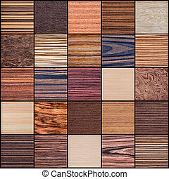 Collage of Wood Texture