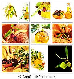 collage, olives
