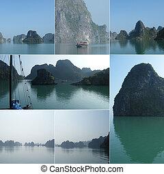 collage, paesaggi, oceano