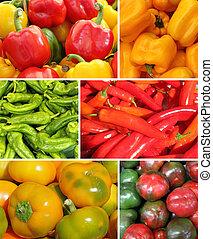 collage, paprika