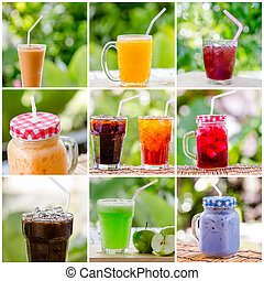 collage photo of sweet water or cocktails