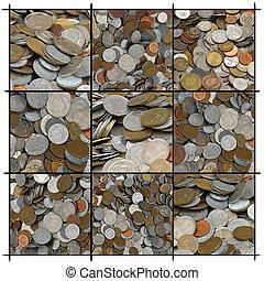 collage, pièces
