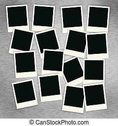 collage, polaroid