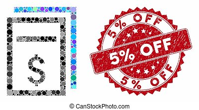 Collage Price Copy Page with Textured 5% Off Seal