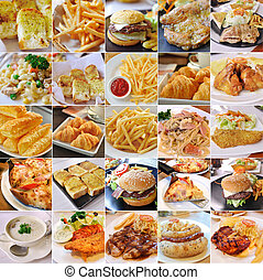 collage, prodotti, cibo, digiuno