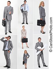 collage, professionnels, business