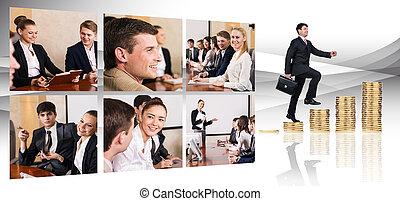 collage, professionnels