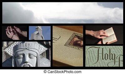 collage, religijny, długość mierzona w stopach, 5
