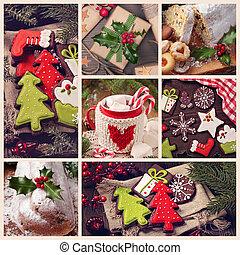stockfoto von collage weihnachten collage aus grau. Black Bedroom Furniture Sets. Home Design Ideas