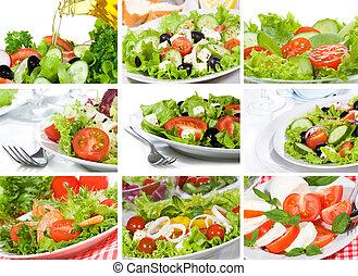 collage, salade