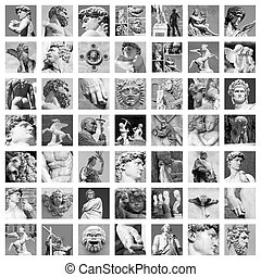 collage, sculture