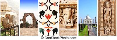 collage, señales, india