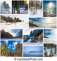 Collage seasons-winter. The Nature Of Western Siberia - ...