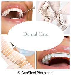collage, services), dentaire, (dental, soin