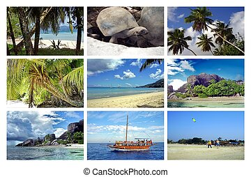 collage, seychelles