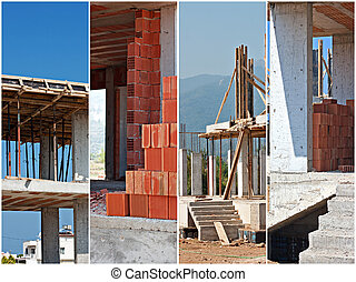 collage, site construction