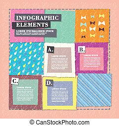 collage, skapande, design, infographics
