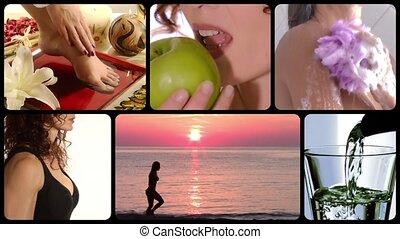 collage, soin beauté