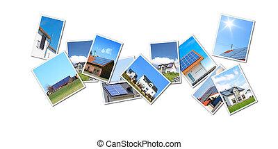 collage, sonnenkollektoren