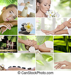 collage - Spa theme photo collage composed of different...