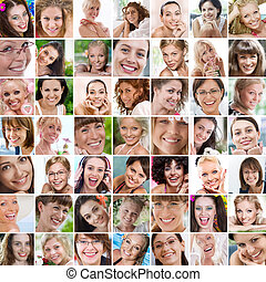 collage - Smile theme collage composed of different images