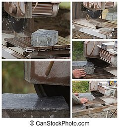 collage stone saw