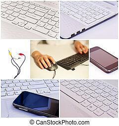 collage, tecnologia