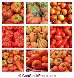 collage, tomate