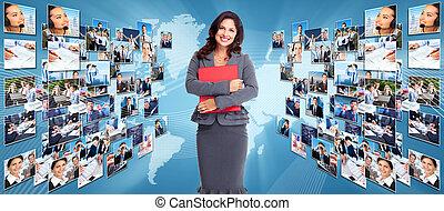 collage., tworzenie sieci, handlowy