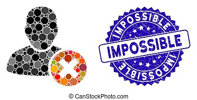 Collage User Delete Icon with Distress Impossible Stamp - ...