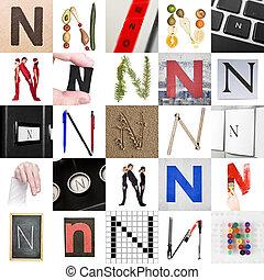 collage, van, brief n
