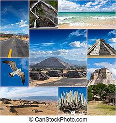 collage, van, mexico, beelden
