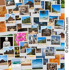 collage, van, sri lanka, beelden