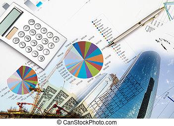 collage, vario, empresa / negocio, elements.