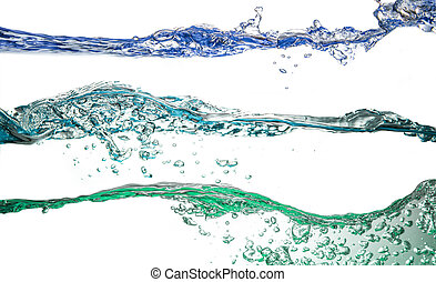 collage, vatten, vit, plaska, bakgrund