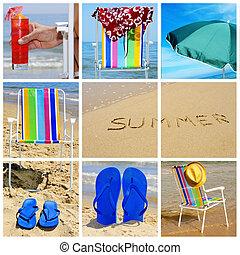 collage, verano