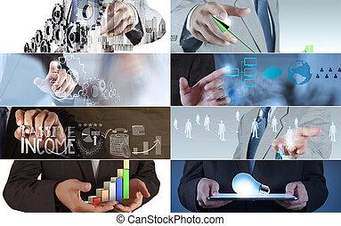 collage, verschieden, medizinisches konzept, modern