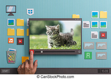 Collage video player