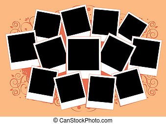 collage, von, photos., template., einfügen, dein, bild, in,...