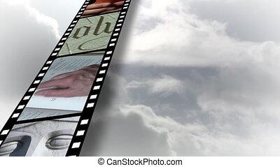 collage, von, religiöses, filmmeter, 4