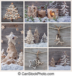 Collage with christmas decoration
