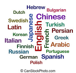 Collage with different languages
