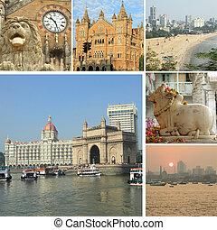 collage with landmarks of Mumbai