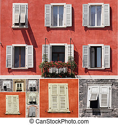 collage with windows