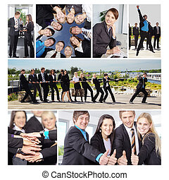 collage, zakenlui