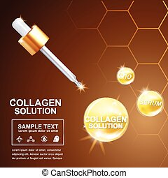 Collagen and Vitamin for Skin Concept - vector eps10