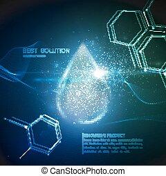 collagen, droplet., szérum