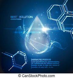 Collagen serum droplet. - Collagen serum droplet with...