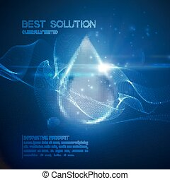 Collagen serum droplet.