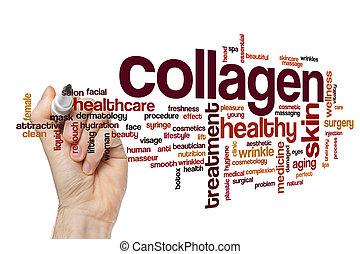Collagen word cloud concept